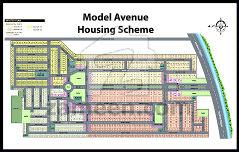 Model Avenue Housing Scheme Map Map of Model Avenue Housing Scheme